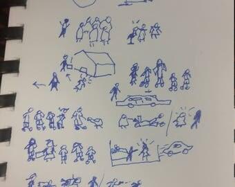 Original doodle by David Condon Erickson