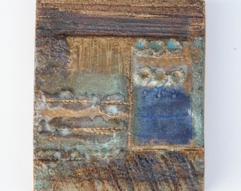 "Ceramic wall relief ""Landscape"" - 12"