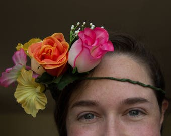 Tequila Sunrise Flower Headband