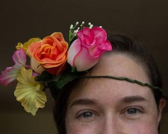Tequila Sunrise Flower Headband