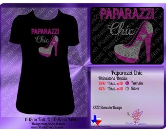 Paparazzi Chic Rhinestone Design Download - High Heel Shoe - Pink - Rhinestone SVG - Rhinestone Template - Rhinestone File