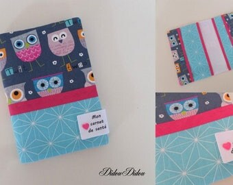 """protects health girl owls patterns & graphics """"my health book"""""""
