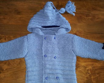 Hooded jacket size 1 to 3 months