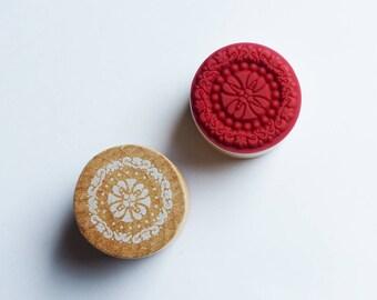 wood circle stamp holder 3 cm * 4 pattern