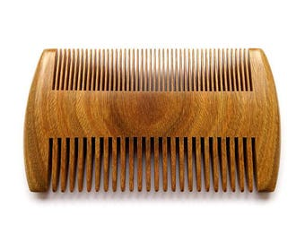Sandalwood Beard Comb / Pocket Beard + Hair Comb for Men