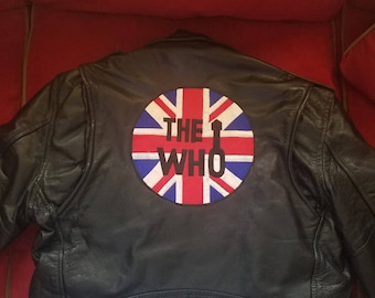 The Who  Promotional Leather biker jacket