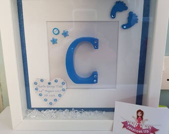 personalised,initial,frame,newbaby,christening,babysroom,baby shower gift