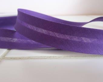Fabric bias plain 20 mm color purple