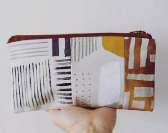 Hand painted clutch bag