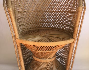 Vintage Wicker Occasional Chair
