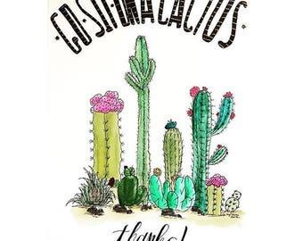Go Sit On A Cactus, Thx / Illustration