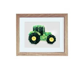 Tractor Button Art