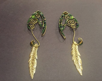 Tinkerbell garden fairy Elf Ear cuff set