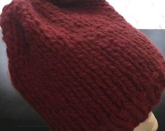 Chunky beanie/slouch knit hat, winter hat- el1
