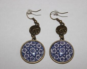 crochet pattern 20 mm cabochon earrings