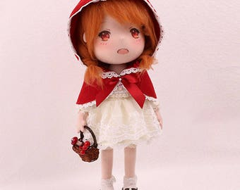 DIY Kit Little Red Riding Hood / Fabric Doll / Textile Doll