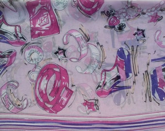 Chiffon Georgette Polyester Silk Scarf Womens Silk Scarves Printed Scarf Lavender Shawl Purple Scarf Hijab Wrap Esharp Bandana Gift For Her