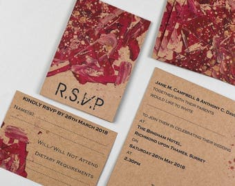 I Do Red Kraft RSVP