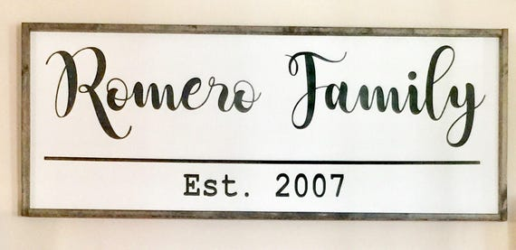 Family last name sign fall signs farmhouse style harvest for Last name pictures architecture