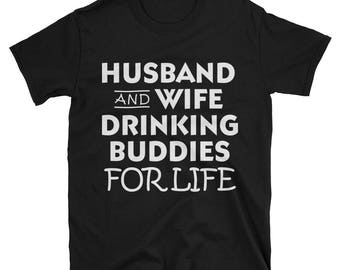 From husband to wife - To wife from husband - Mr and Mrs - Matching shirts - Bride shirt - Drinking shirts
