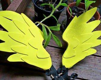 Bright Yellow Three-Layer Lightweight Angel Wings