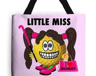 Field Hockey Bag, Storm Keeper, Little Miss Hockey Tote Bag. Hockey Humour. Fantastic Field Hockey Gifts For All The Family