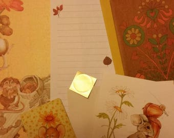Vintage Stationery Collection ~ Mini Retro Fall Mouse Lot