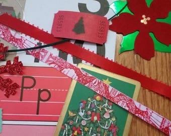 Christmas Inspiration Kit / 20+ Pieces / Vintage & New / Collage pack/Paper ephemera lot/ junk journal pack / pen pal lot