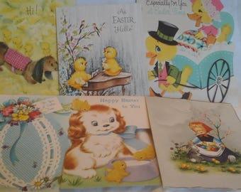 Vintage  Easter greeting  cards
