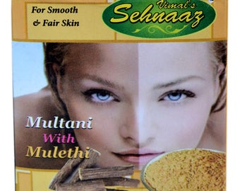 Vimal's Sehnaaz Multani Mitti Face Pack with Mulethi for Smooth & Fair Skin