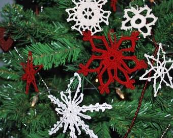 Crochet snowflakes (pack of 6)