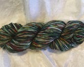 Holiday Lights, a handpainted Sock yarn, One of a Kind, Dot Dye