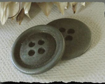 3 buttons Metal gray matte * 20 mm 2 holes cm * 4 * 0.80in sewing button