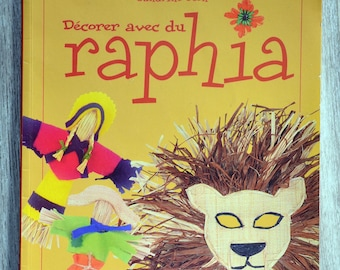 Book decorating with raffia