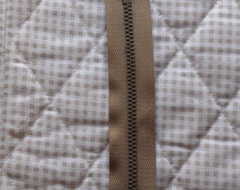 ZIP closed end zipper PRESTIL Z13 - 15cm - BEIGE 945 - Special pants man - slider Auto-bloquant
