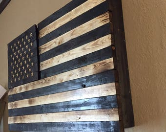 Flag with pistol concealment  in union
