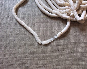 Ivory sequins 5 mm wire - sequin beadwork Haute Couture-hook of Lunéville