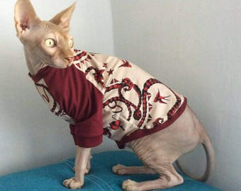 Comfortable Sphynx long sleeve shirt, Sphynx Cat clothes, Gifts for Pets, Costumes for Pet, Cat T-shirt, Cat Clothes.