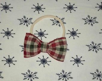 Christmas Plaid Hairband