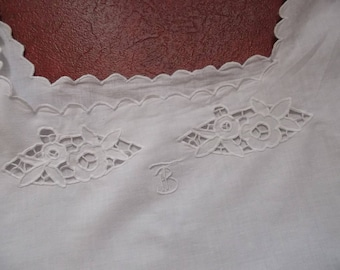 Babydoll/Nightgown embroidered and scalloped