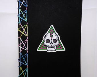 STARBOUND: Hand-stitched Japanese stab bind blank page notebook for Book of Shadows, Journalling, or Sketchbook, 36 blank pages