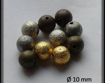 10 stardust beads 10 mm assorted colors