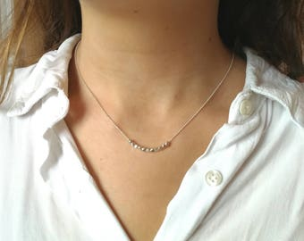the Choker necklace 925 Silver beads