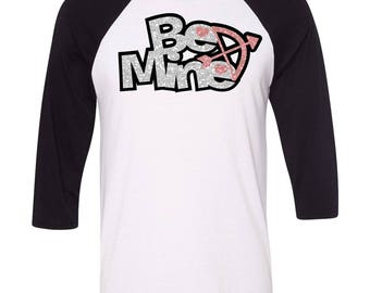 Be Mine love Baseball Raglan, Cupid, Gift for Her, Valentines Day Gift, Youth Valentines  Shirt, Heart, Valentines