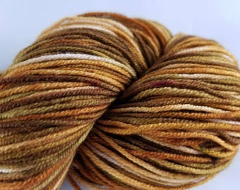 Caffeine , DK Weight, Cabled yarn, hand dyed yarn, handdyed yarn, hand painted, superwash merino wool, variegated