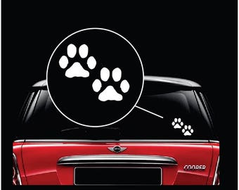 Puppy Paw Prints Car Window Decal Sticker