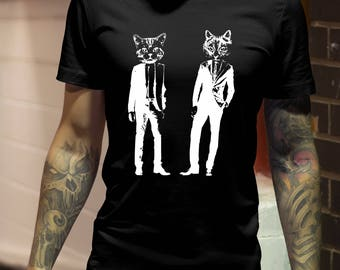 Cat Shirts  cat shirt for men  funny cat shirt  cat lover gift  cat tshirt  cats shirt  Graphic Tee  Kitty shirt  Cats in Suits
