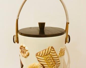 Vintage Biscuit Barrel Cookie Jar 1950 1960