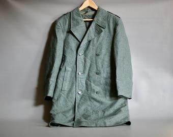 SWISS ARMY COAT, 1970s Swiss Military Coat, Swiss Army Wool Coat, Swiss Military Wool Coat,