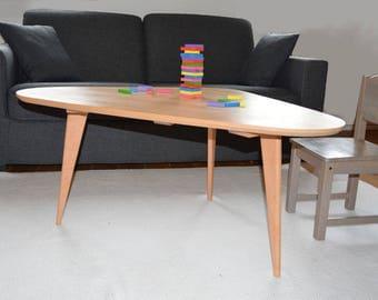 Oval coffee table Scandinavian style
